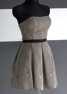 Sukienka gorsetowa melanż