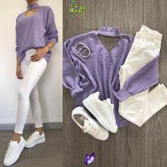 """Moda Aşkım ❤ on Instagram: """"1-8 En çok hangi kombini sevdin? 🌸 . Görmesini istediğin  arkadaşlarını posta etiketlemeyi unutma ❤ .  Keşfetten gelenler takip lütfen❤…"""" 1-8 En çok hangi kombini sevdin? 🌸 . Görmesini istediğin  arkadaşlarını posta etiketlemeyi unutma ❤ .  Keşfetten gelenler takip lütfen❤…<br> Lila Outfits, Purple Outfits, Cute Teen Outfits, Sporty Outfits, Jean Outfits, Classy Outfits, Outfits For Teens, Stylish Outfits, Cool Outfits"""