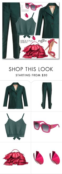 """Work Wear"" by jecakns ❤ liked on Polyvore featuring N°21, Gucci, Borbonese and Gaviria"