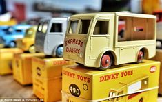 The toy cars worth as much as a Ferrari: Pristine Dinky collection amassed over 60 years set to sell for £100,000.  When packed up the Dinky toy cars, trucks and trailers fill 80 crates.  Toys form what has been dubbed the North West Durham Collection.  Owner, who doesn't wish to be identified, started collection 60 years ago.