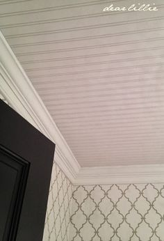 Ceiling Beadboard Wallpaper By Allen And Roth From Lowes Dear Lillie