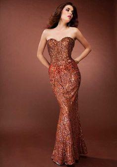 Scala Evening Dress Orange