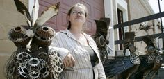 Erika Koivunen and her birds that live in Madison WI