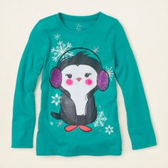 Penguin graphic tee | Children's Clothing | Kids Clothes | The Children's Place
