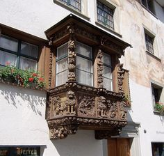 Carved Window Box, St. Gallen, Switzerland by David, via Flickr