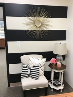 The Black And White Striped Wall Decorating I Love Pinterest