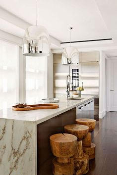 marble and barstools