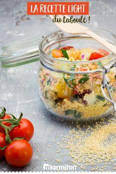 Essayez la recette light et saine du taboulé pour une entrée délicieuse et légère ! #recettemarmiton #marmiton #recette #recettefacile #recetterapide #faitmaison #cuisine #ideesrecettes #inspiration #healthy #sain #light #taboule #salade #entree Couscous, Barbecue, Food And Drink, Healthy Recipes, Traditional, Motivation, Vegetables, Cooking, Recipes