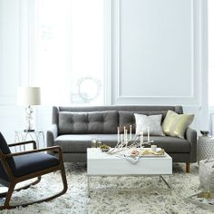 West Elm offers modern furniture and home decor featuring inspiring designs and colors. Create a stylish space with home accessories from West Elm. Decor, Living Room Inspiration, Home And Living, Furniture, Living Room Designs, Interior Design, Home Decor, House Interior, West Elm Living Room