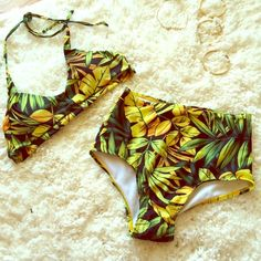 Andrea Iyamah Nivada Swim Top #andreaiyamah #nivada #swim top! i love this #lush #summer #tropical #print so much. so happy i got a top that fits me so that's why i'm getting rid of this one. size M. *SELLING TOP ONLY Andrea Iyamah Swim Bikinis