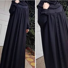<img> Cilbab with pearl button edenSize 🎀Color 🎀For information and order 👘Whatsap 05385161787 # cilbab # sheets # sheets # sheriff # veil # ferace… - Niqab Fashion, Muslim Fashion, Fashion Dresses, Hijab Style Tutorial, Modele Hijab, Mode Abaya, Iranian Women Fashion, Hijab Fashionista, Abaya Designs