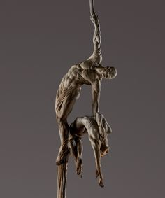 Close Up of Orpheus Ascending Bronze, 2011     Richard MacDonald Studio