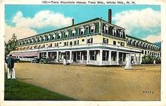 Twin Mountains New Hampshire NH Twin Mountain House Hotel Vintage Postcard Twin Mountains New Hampshire NH Twin Mountain House Hotel in the White Mountains. New Hampshire, Cabin Decorating, White Mountains, Pinterest Marketing, Media Marketing, New England, 1920s, Restaurants, Twin