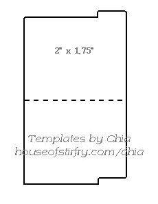 Mini File Folder Template. custom presentation packaging folders ...