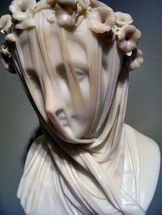 MONTI Raffaelo - Italian (1818-1881) ~ Vestal virgin 1847