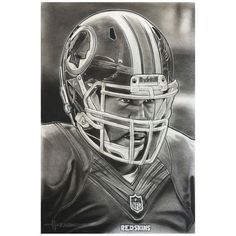 "Washington Redskins Deacon Jones Foundation 14"" x 9"" Helmet Series Fine Art Giclée Canvas - $129.99"