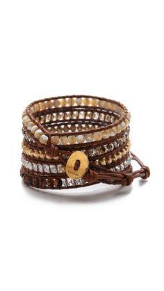 beaded wrap bracelet.