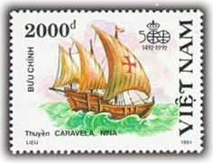 15 th centenary  -  type boat  -'Caravelle'-