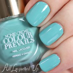 New Brand Alert – Nonie Creme Colour Prevails Swatches and Review.  PRIVILEGED ... a bright turquoise creme nail polish