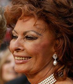 Sophia Loren,  81 years old.