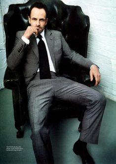 Jonny Lee Miller (Elementary's Sherlock Holmes) in InStyle