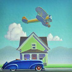 Convertible by Robert LaDuke Art Deco Artists, Artist Art, Retro Art, Vintage Art, Vintage Posters, Art Nouveau, Art Deco Posters, Garage Art, Estilo Retro