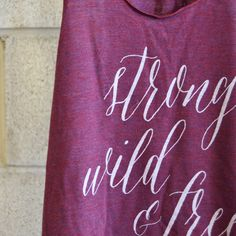 Strong Wild & Free Women's tank top. Buy at : danielledoesit.com : crossfit tank, crossfit apparel, fitness tank, wod, American apparel tank