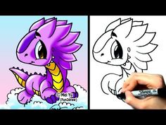 """How to draw a dragon"" - ""How to draw a cute cartoon dragon"" - ""How to a dragon easy and simple"" step by step! New Fun2draw cartoon animals EVERY WEEK at: http://www.youtube.com/Fun2draw    Watch these AWESOME Fun2draw playlists:    How to Draw Dragons!  http://www.youtube.com/playlist?list=PL6D61D9B57C775F96    How to Draw Fantasy Characters  http://ww..."