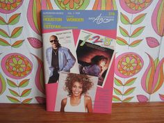 Vintage Sheet Music Superstar Series Vol. 1 Pop Whitney Houston Stevie Wonder Gloria Estefan Keyboard 80's Book Classic Songs Billboard 100