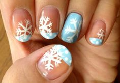 Snowflake Nails - Winter Christmas Nail Art