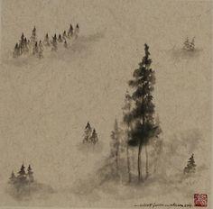 Robert Faure Peinture tchan et Sumi-e Painting, Art, Mists, Paint, Art Background, Painting Art, Kunst, Paintings, Performing Arts