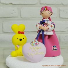 Korean Hanbok First birthday custom cake topper by 100ORIGINAL, $90.00