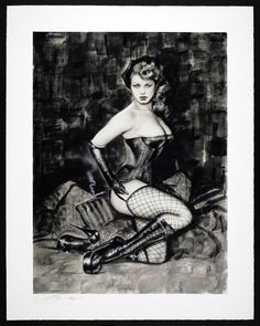 """Pinup Art by Olivia de Berardinis """"Frenchie"""" Giclee Signed Numbered 