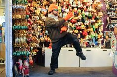 """Because those Christmas ornaments aren't going to sell themselves."" Humans of New York"