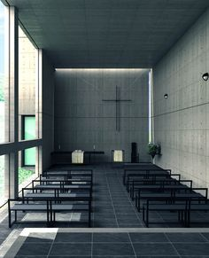 Clean lines lean literally to purity in practice.nc. Tadao Ando Chapel on Mt. Rokko Kobe, Hyogo, Japan 1985-1986 @Alla Prima Art Mall #architecture #icons #nikohlcadeauinteriors