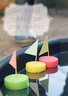 Easy sail boat pool noodles for kid crafts