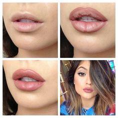 Image via We Heart It #diy #famous #girl #lips #makeup #tutorial #kylie #tanfea