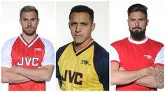 El Arsenal presenta una colección de camisetas retro