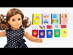 How to make folders, color paper and notebooks - Dollhouse DIY - Easy Doll Crafts - YouTube