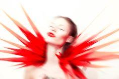 Fashion designer Halina Mrozek at Wysokie Obcasy magazine