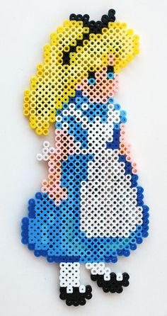 Alice In Wonderland perler beads by ThePlayfulPerler on deviantART