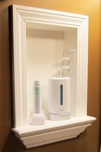 Remove Medicine Cabinets And Add Built In Shelves. Consider Installing An  Electrical Outlet As A Charging Station.