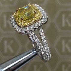 Halo yellow...  #HouseOfKdor #Sunkissed #YellowDiamonds #Diamonds meticulously handcrafted to #Perfection for our beautiful bride @adriana_costi #KdorGirl #IadoreKdor