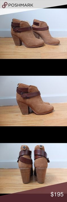 Rag & Bone Harrow booties Camel suede Size 36 US 6 Only worn a few times. Excellent condition. No stains or scratches etc.   With dust bag. No shoe box.  Originally purchased in Barney's rag & bone Shoes Ankle Boots & Booties