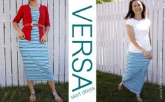 How to make a maxi skirt that can also be worn as a dress. Easy- Only 2 pieces and 3 seams.