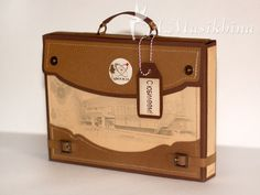 Workshop Tinkerbell: Workshop on briefcase for a card or gift Gift Certificates, Briefcase, Gift Bags, Diy Tutorial, Cardmaking, Giraffe, Suitcase, Paper Crafts, Printables