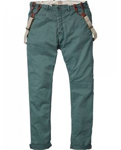 Morrisson - Anti-fitted drop crotch chino with suspenders - Pants - Scotch  Soda Online Shop