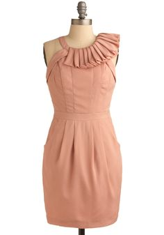 Love this peachy-blush dress! Would be perfect for a wedding!