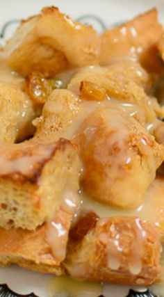 Bread Pudding with Warm Vanilla Sauce