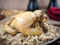 Курица с диким рисом и овощами в медленном режиме